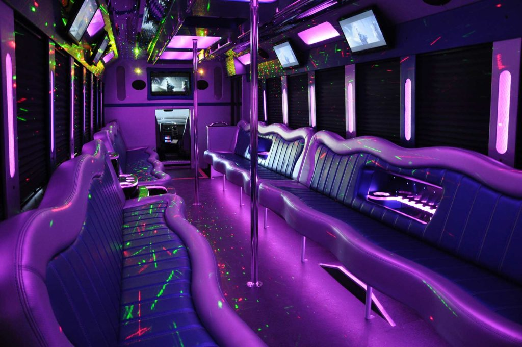 The interior of our large bus - Airport Transfer in Style